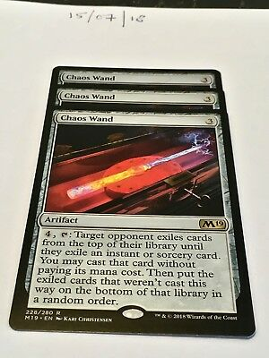 Magic the Gathering MTG Chaos Wand x3 Rare Cards NM/M M19