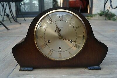 Smiths. dual chime mantel clock.Westminster/Whittington.SEE VIDEO.