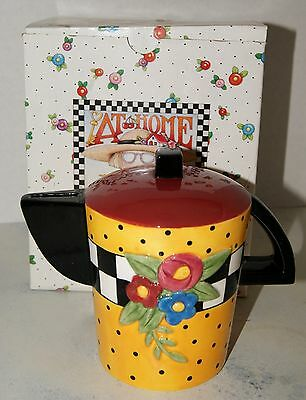 Mary Engelbreit Teapot Bank Charpente Vintage 1995 ME Ink w/box