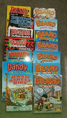 Bundle Of Annuals.Beano,Dennis The Menace,Dandy,Bash Street Kids.