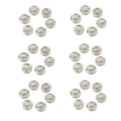 Clothes Sewing 7.5mm Press Studs Buttons Fastener Silver Tone 36 Pcs C4N4
