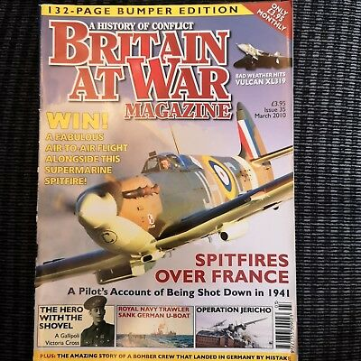 "Britain at War Issue 35 March 2010 ""Spitfires over France"" Magazine"