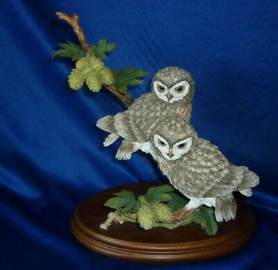 Country Artists ' Little Owl Pair with Wild Hops ' David Ivey 2000