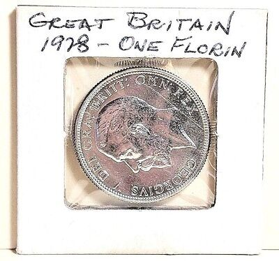 GREAT BRITAIN 1928 One Florin