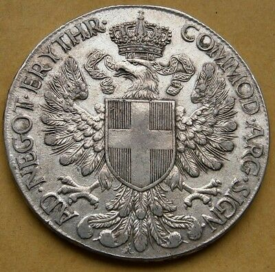 Italy Eritrea 1 Thaler 1918 Silver Victor Emanuele III Mint State Superb