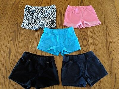 5 piece Lot of 2T Girl Shorts in good pre-owned condition