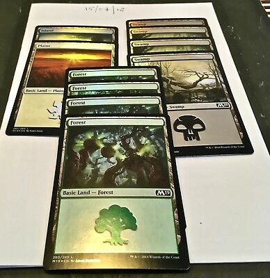 Magic the Gathering MTG Assorted Land x10 Land FOIL Cards NM/M M19