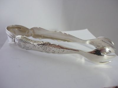 Stunning, unusual and rare vintage Dutch designer sterling silver sugar Tongs
