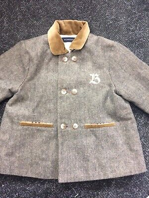 Childs Burberry jacket Size 12 Months grey tan collar please see pics 10/7 PE D
