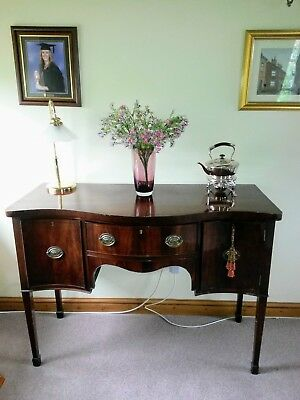 Antique Mahogany serpentine bow front sideboard edwardian / georgian?