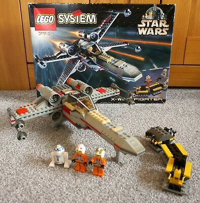 Lego Star Wars 7140 X Wing Fighter Box Instructions 1999 Rare
