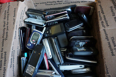 Lot Of 88 Cell Phones Broken Untested for Gold Scrap Recovery 13+ lbs