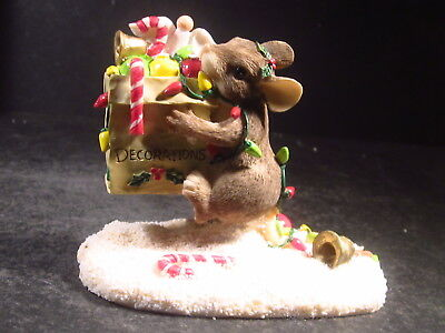 Silvestri Charming Tails ALL THE TRIMMINGS Mouse Mailbox Christmas  MIB