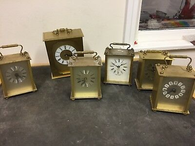Job Lot Carriage Clocks X 6 For Spares Or Repairs