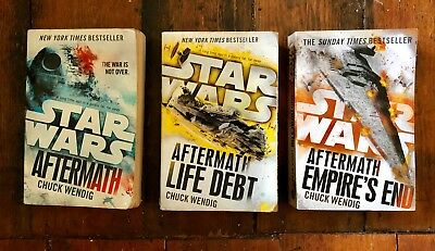 Star Wars: The Aftermath Trilogy written by Chuck Wendig, published by Del Rey