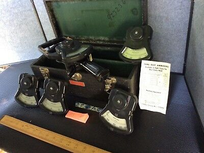 Columbia Electric Mfg Type DP TONG TEST D.C. Ammeter w/ x5 Amp Readers w/ Case