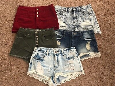 Lot of 5 Pairs of Denim shorts (Refuge & Forever 21)