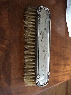 Vintage Hallmarked sterling silver backed clothes brush