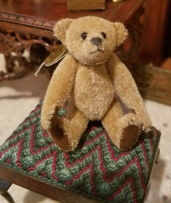 "Carol Stewart ""Original"" Jointed Bear Dollhouse Miniature Artisan Handmade"