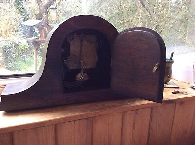 Vintage FOREIGN Napoleon style Mantel Clock in wood - doesn't chime