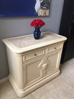 Bernhardt Dry Bar/Buffet. Marble top. One owner, Pristine Condition.