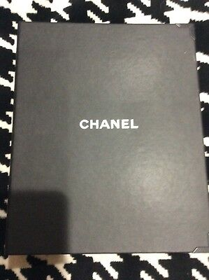 Authentic CHANEL Black Binder Notebook ~ Unique Employee Item ~ 11 x 9 x 1 3/4""