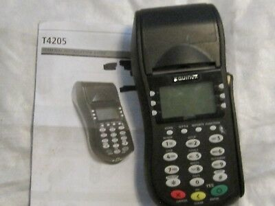 Equinox Hypercom Model T4205 Credit Card Processing Terminal Machine with Power