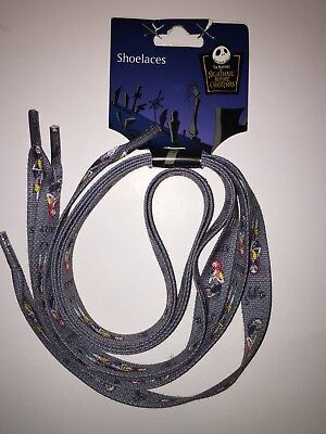 Disney Nightmare Before Christmas Shoe Laces shoestring Hot Topic Sally NBC New!