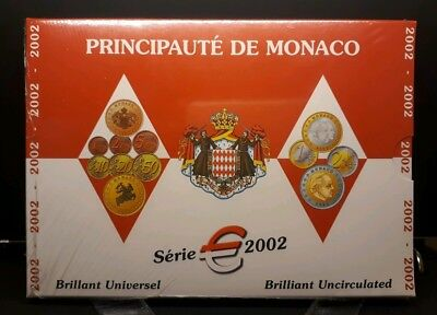 KMS Monaco 2002 KMS in stgl., brilliant uncirculated *3,88 Euro*. Mint Set - TOP