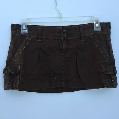 Women Summer Mini Skirt Abercrombie & Fitch Size 00 Brown Excellent Conditions