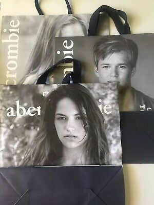 Abercrombie and Fitch paper shopping bags