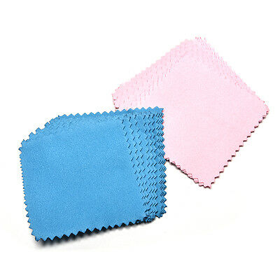 10xJewelry Polishing Cloth Cleaning for Platinum Gold and Sterling Silver ^^