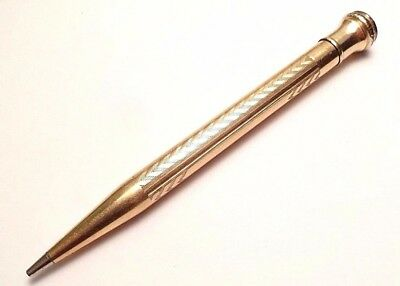Vintage Wahl Eversharp Gf Gold Filled Fob Pencil Made In Usa