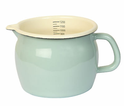 Dexam Vintage Home 1.2L Large Enamel Measuring Jug Sage Green Kitchen Caravan