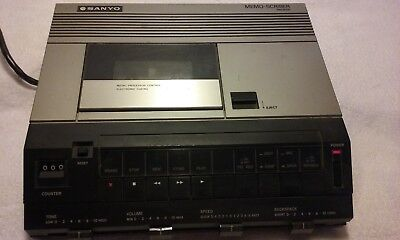 Sanyo memo-scriber TRC9100 cassette dictation machine With Cassette Tape Working