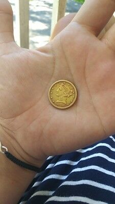1882 Gold 5 Dollar Coin