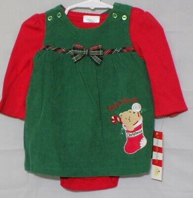 New Little Wonders Infant Girl's Holiday Bodysuit and Jumper Baby's First Chris