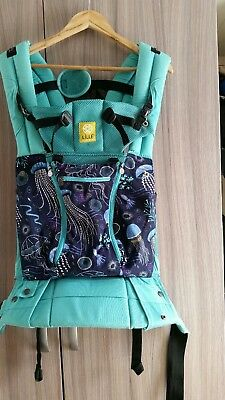 Lillebaby Complete All Seasons baby carrier Blue Lagoon with matching suck pads