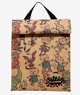 Nickelodeon characters Insulated Lunch Sack Cooler Bag Box Camp School NWT!