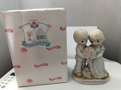 """Precious Moments """"Love Vows To Always Bloom"""" Figurine- 129097"""