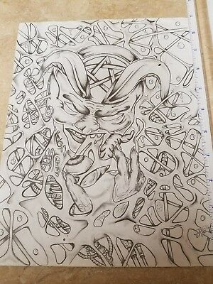 Prison Inmate Pencil Drawing Devils Web