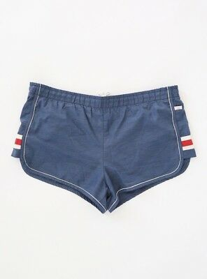 Vintage Jantzen Swim Trunks Shorts unisex Navy Blue striped shorts USA