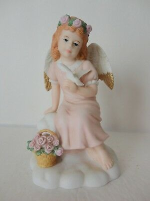 Home Interiors Angel Girl w/ Dove'' Porcelain Figurines #14063-99 Gorgeous