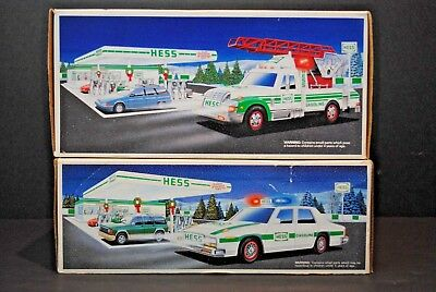 HESS Toy Vehicle Patrol Car and Resque Truck 1993&1994