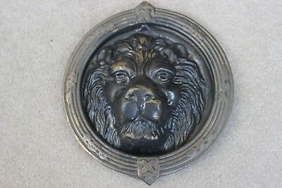 Vintage Brass Lion Head Door Knocker - Heavy