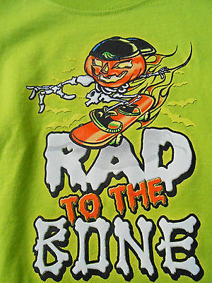 NEW Baby Toddler Boy 18 Months RAD TO THE BONE Halloween Toddler Shirt