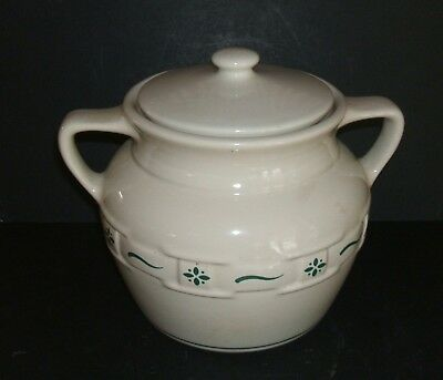 Longaberger WOVEN TRADITIONS Cookie Jar with Lid Traditional Green