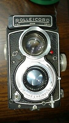 Rolleicord VA, 6x,6 120 Format. Tested Working Good #1592325. Hood,& Filter