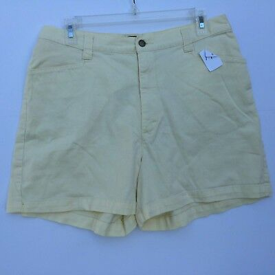 Womens Summer Casual Shorts Lee Casuals Size 14M Yellow Excellent Used Condition
