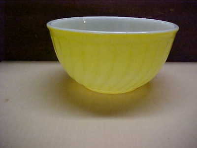 Yellow Swirl Fire King Nesting Bowl-Nice